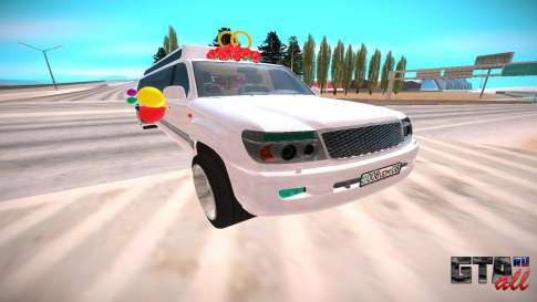 Toyota Land Cruiser 100 для GTA San Andreas - вид спереди