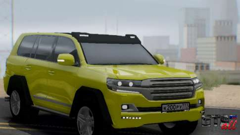 Toyota Land Cruiser 200 2016 4X4 для GTA San Andreas - вид спереди